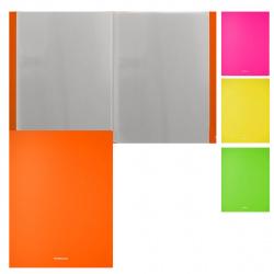 Папка 60 файлов 0,60мм Erich Krause Matt Neon 49932 ассорти