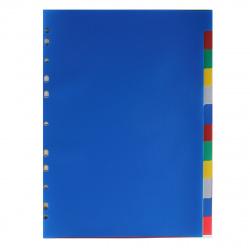 Разделитель А4 без индексации 5цв 12 л пластик Attomex 3051511