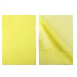 Папка-уголок 0,15мм ЕЕ-310/816385 желт п/прозр