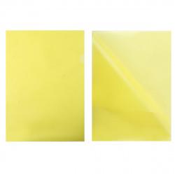 Папка-уголок А4, пластик тонированный, толщина пластика 0,15мм, цвет желтый Sponsor GRT-SF208-1/YL/R