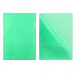 Папка-уголок 0,18мм GRT-SF208-2/GR/R зел п/прозр