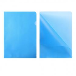 Папка-уголок 0,18мм GRT-SF208-2/BU/R син п/прозр