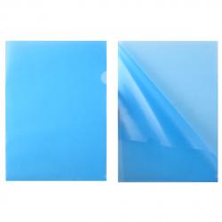 Папка-уголок 0,15мм ЕЕ-310/816381 син п/прозр