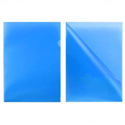 Папка-уголок 0,18мм Е-310/816353 син п/прозр
