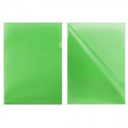 Папка-уголок 0,18мм Е-310/816355 зел п/прозр