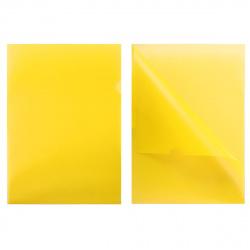 Папка-уголок 0,18мм Е-310/816357 желт п/прозр