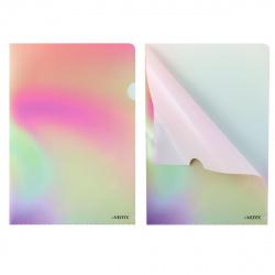 Папка-уголок 0,18мм deVENTE Rainbow 3074801 роз с салат