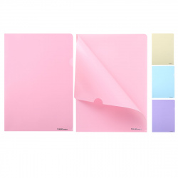 Папка-уголок 0,18мм Erich Krause Diagonal Pastel 50170 ассорти
