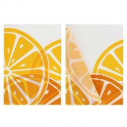 Папка-уголок А4, пластик, толщина пластика 0,25мм, цвет рисунок Апельсин Феникс 52585