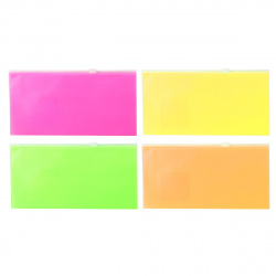 Папка на молнии А6, 130*255мм, ПВХ, ассорти 4 вида Neon Fizzy Neon Erich Krause 47076