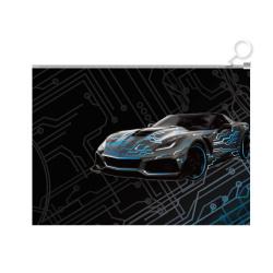 Папка на молнии А4 (250*330мм), ПВХ, цвет красный Феникс 48205