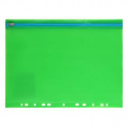 Папка на молнии А4 (250*330мм), ПВХ, цвет зеленый Феникс 48206