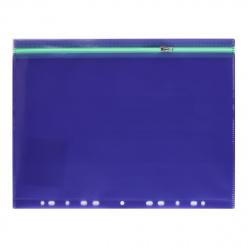 Папка на молнии А4 (250*330мм), ПВХ, цвет фиолетовый Феникс 48204