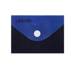 Папка-конверт на кноп А7 (74*105мм) 0,15мм deVENTE Black&Blue 3071524 непрозр