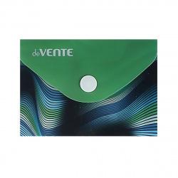 Папка-конверт на кноп А7 (74*105мм) 0,15мм deVENTE Colored waves 3071542 непрозр