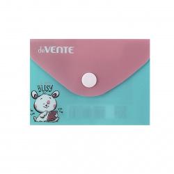 Папка конверт на кнопке Tik Tok А7 (74*105мм), пластик, цвет рисунок deVENTE 3079060