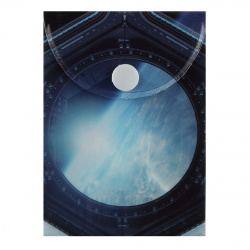 Папка-конверт на кноп А7 (75*105мм) 0,18мм КОКОС Космос 205713 непрозр