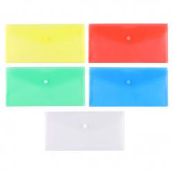Папка-конверт на кноп А6 (105*148мм) 0,18мм deVENTE 3071823 п/прозр ассорти