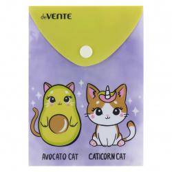 Папка конверт на кнопке Sweet Couple А6 (114*158мм), пластик, цвет рисунок deVENTE 3079144