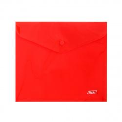 Папка-конверт на кноп А5 (215*240мм) 0,18мм AKk_15103 полупрозрачная красная
