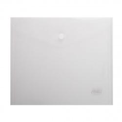 Папка-конверт на кноп А5 (215*240мм) 0,18мм AKk_15106 прозрачная матовая