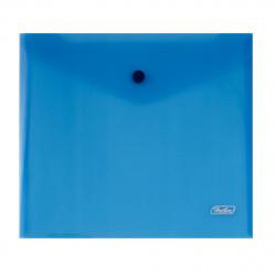 Папка-конверт на кноп А5 (215*240мм) 0,18мм AKk_15102 полупрозрачная синяя
