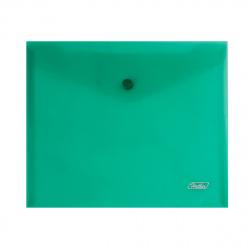 Папка-конверт на кноп А5 (215*240мм) 0,18мм AKk_15104 полупрозрачная зеленая