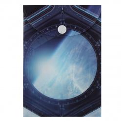 Папка конверт на кнопке Космос А6 (115*165мм), пластик, цвет рисунок КОКОС 205712
