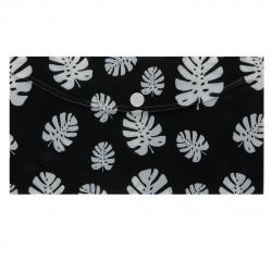 Папка конверт на кнопке Черное и белое А6 (125*225мм), пластик, цвет рисунок КОКОС 205719