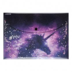 Папка-конверт на кноп А4 (230*320мм) 0,45мм deVENTE Dream Unicorn конфетти 3071100
