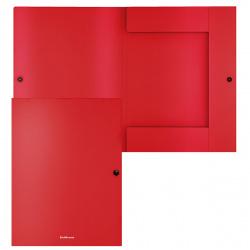 Папка на кнопке с 3-мя клап А4 0,40мм Erich Krause Matt Classic 47230 непрозрачная красная