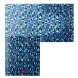 Папка на резинке А5+ 0,55мм Erich Krause Cubes 47212