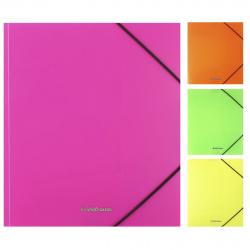 Папка на резинке А5+ 0,60мм Erich Krause Matt Neon 50389 ассорти 4 вида