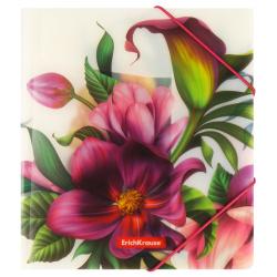 Папка на резинке А5+ 0,55мм Erich Krause Tropical Flowers 49354