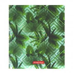 Папка на резинке А5+, пластик, 0,55мм, цвет рисунок Tropical Leaves Erich Krause