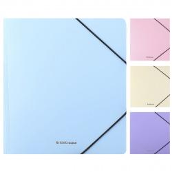 Папка на резинке А5+ 0,60мм Erich Krause Matt Pastel 50401 ассорти