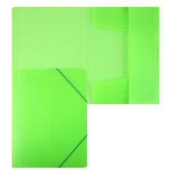 Папка на резинке А4 0,50мм с клап Пк4р_02034 Неоново-зеленая
