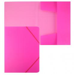 Папка на резинке А4 0,50мм с клап Пк4р_02033 Неоново-розовая