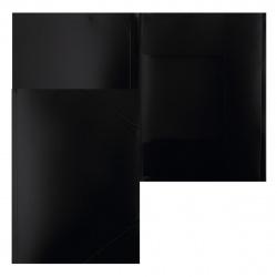 Папка на резинке А4 0,40мм PR04BLCK 816772 черн