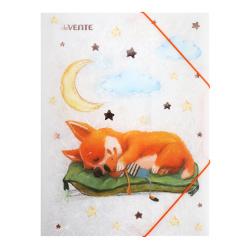Папка на резинке А4 0,40мм Erich Krause Neon 47141 роз