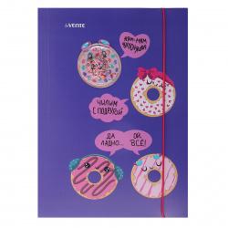 Папка на резинке А4 0,40мм Erich Krause Neon 47144 желт