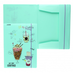 Папка на резинке А4, пластик, 0,40мм, цвет мятный Unicorn Cocktail deVENTE 3070104