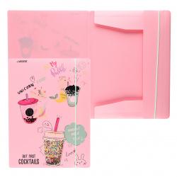 Папка на резинке А4, пластик, 0,40мм, цвет розовый Unicorn Cocktail deVENTE 3070105