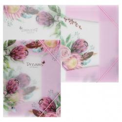 Папка на резинке А4 0,40мм КОКОС Spring Flowers 209107