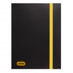 Папка на резинке А4 0,50мм deVENTE Monochrome 3070914 черная с неоновым желтым