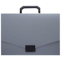 Папка-портфель 1отд 0,7мм 36мм KLERK 190979 серый