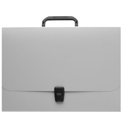 Папка-портфель 1отд 0,7мм 42мм Erich Krause Matt Ice Metallic 53302 сер