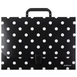 Папка-портфель А4, пластик, цвет черный Wild Cat 52917 Erich Krause