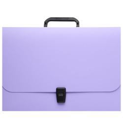 Папка-портфель А4, пластик, цвет фиолетовый Matt Pastel 53304 Erich Krause