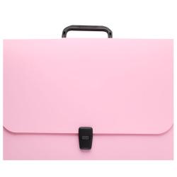 Папка-портфель А4, пластик, цвет розовый Matt Pastel 53305 Erich Krause
